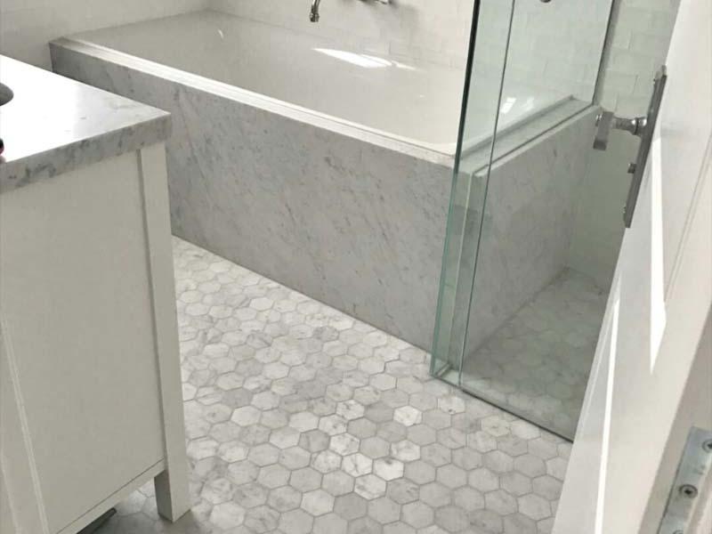 Carrara Hexagon mosaic  - 2845021